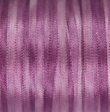 Pure Silk Ribbon 2 mm broderie Violet - 3mtr Lavande