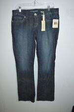 Womens NWT Jeans Size 31 Dark Wash Daredevil Boot Stones Embellished