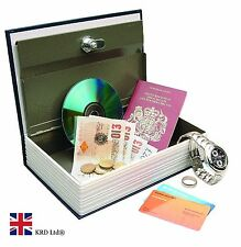 SECRET DICTIONARY BOOK SAFE Hidden Compartment Cash Money Stash Security Lock UK