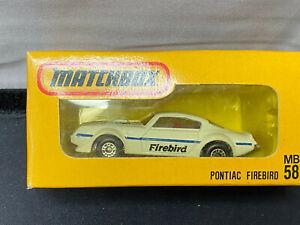 Vintage 1975 Matchbox Japanese Pontiac Firebird 1/64 Diecast MB58