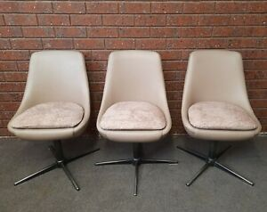 Retro Mid Century funky swivel Pod dining chairs- KENDALL? Selling as Eaches