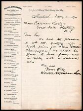1894 Walter Wonham & Sons Montreal Canada Vintage Letter Head Rare