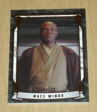 Topps Star Wars Masterwork Defining Moments insert gold canvas MACE WIN DM-9 /99