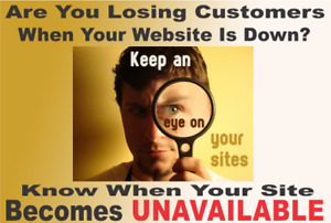 STOP LOSING CUSTOMERS! Monitor your website for FREE!