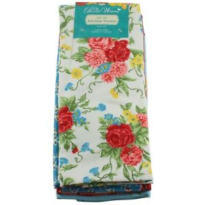 """The Pioneer Woman Sweet Rose Kitchen Dish Towels 4 Pack 16"""" x 28"""""""