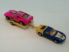 Lamborghini Miura + Trailer+ GULPER pink Matchbox Speedkings K-24/ England 70s