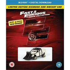 Fast and Furious 1-7 Blu Ray Bonus Disc BOXSET Limited Edition Digibook& Car