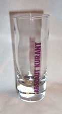 "Absolut Kurant Vodka Shotglass 4"" Tall 2 oz Purple Lettering"