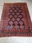 COLLECTORS' PIECE Antique Kowdani Geometric Pattern Abrash Faded Colors Tribal R
