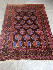 COLLECTORS' PIECE Antique Kowdani Geometric Pattern Abrash Faded Colors Tribal R