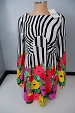 Tibi Dress Size Uk 8 Rro £245 New With Defects  Long Sleeve Skater