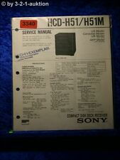 Sony Service Manual HCD H51 / H51M Component System (#3340)