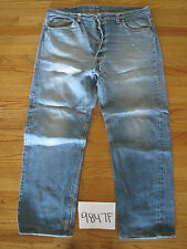 destroyed levi feathered 501 grunge usa jean tag 42x34 meas 39x29 9847F