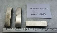 """Square bar cast ALNiCo 5 magnet ground 1/2""""sq x 2"""" L magnetized length 1 each"""