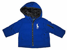 Polo Ralph Lauren Royal Blue Big Pony Down Puffer Snow Winter Coat Jacket 12M