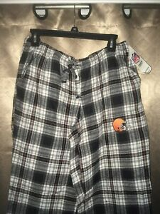 NWT Women's Cleveland Browns Flannel Pajama Pants Size Med New