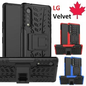 For LG Velvet 5G Case - Dual Layer Ultra Hybrid Shockproof Kickstand Hard Cover