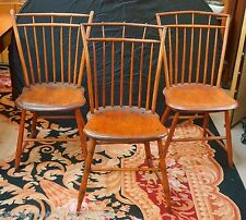 Antique Primitive American Windsor Chairs |Set of 3