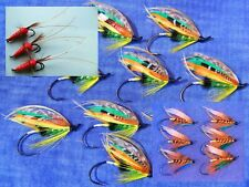 Atlantic Salmon fly Featherwing / Hairwing / Synthetic assortment fly fishing