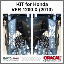 2 x CROSSTOURER X White for Honda VFR1200X 2010 PARASPRUZZI SPLAS STICKERS MOTO