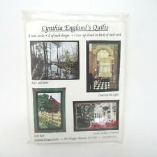 Cynthia England's Quilts Note Cards 8 cards and envelopes 2 of each unused 1996
