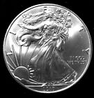 1 oz Silver American Eagles - BU 2017 dated coin. No SH&I. 2 + coins cost less.