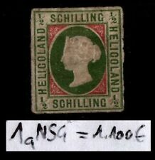 Lot Timbre HELIGOLAND : Reine VICTORIA n°1a, Neuf SG = Cote 1.100 €