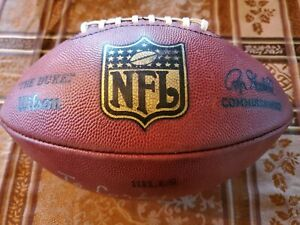 NFL Duke Football Game Issued Buffalo Bills Signed Marv Levy Auto Inscription