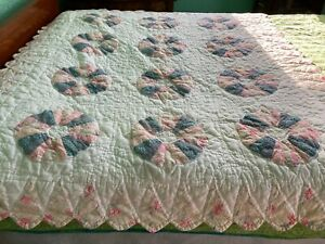 """Quilt lap or crib size handmade dresden plate? 56"""" x 48"""" #27"""