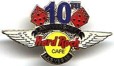 Hard Rock Cafe Las Vegas 2000 10h Anniversary Pin Hrc Logo w/ Wings & Dice #4609
