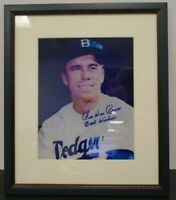 """Pee Wee Reese Dodgers Signed Autographed 8x10 Framed 13x15""""  w/COA"""