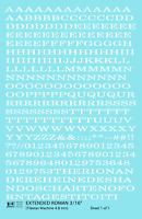 K4 HO Decals White 3/16 Inch Extended Roman Letter Number Alphabet Set