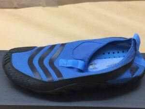 Adidas Jawpaw Wasserschuhe Badeschuhe Herren blau-schwarz Barfußschuhe 018635