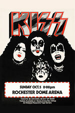 KISS at Rochester Dome Arena Concert Poster 1975 13x19