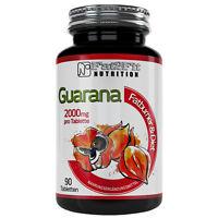 Guarana 90 Tabletten je 2000mg von Fat2Fit Nutrition Hochdosiert Koffein Fitness