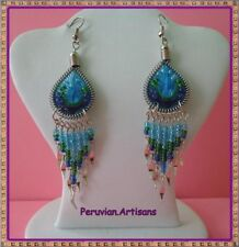 PRETTY 100 PAIRS EARRINGS DANGLE THREAD WITH COLORFULL BEADS INSIDE
