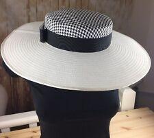 PHILIP SOMERVILLE Model London Vintage Houndstooth Pattern Hat Women Accessory