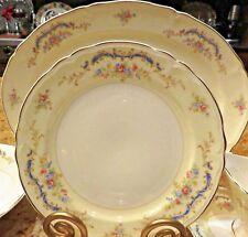 53 pcs Antique 1947 EDWIN M KNOWLES Dinnerware & Serving pcs PRINCESS GoldRim