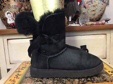 UGG Women's Classic Knot Black Boots Size 36 EUR 5 US # 1016416