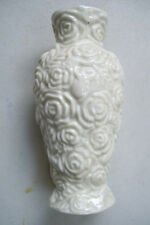 """White Gold Trim Art Decorated Bud Vase 5"""" Tall  Good Condition."""