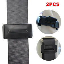 1 Pair Car Seat Belt Stopper Buckle Adjuster Extender Clips Black Universal New