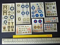 1960s/70s Airfix Unused Spare Decals x 8. Factory Over Runs. Very Fine (N424)