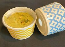 New listing Decorative Dip Containers - Drop in a Dip Tub of Cheese, Guacamole, Sour Cream