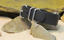 The Z5™ Leather Strap w/ Brushed Hardware By NATO Strap Co.(℠)