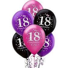 Amscan 9900874 11-inch Celebration 18th Happy Birthday Latex Balloons