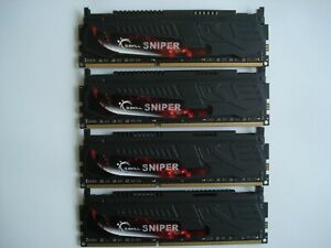 G.SKILL Sniper 16GB (4x4GB) DDR3 1866 PC3-14900 240-Pin SDRAM F3-14900CL9D-8GSR