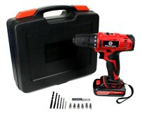 NEW! 18V Cordless Drill Set, Dual Speed, Powerful Lithium Battery & Carry Case