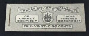 nystamps Canada Stamp # BK38 Mint OG NH UN$25 French   L30y3074