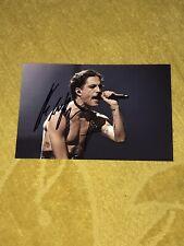Damiano David Photo Dedicace Autograph Eurovision 2021 Italie Winner Maneskin