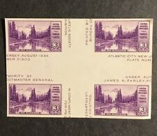 1935 Sc#770 Vf Mnh Blk Of 4 No Gum With Crossed Gutters Catalogs $27.50